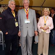 Tennisclinic Hilversum Open 2004, Marco Bakker, Martin Schröder en vrouw Tineke Nipshagen