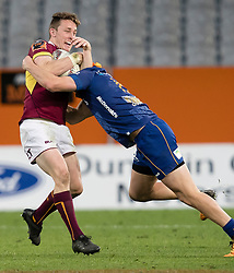Southland's Jay Renton left, in the tackle area against Otago in the Mitre 10 Cup rugby match, Forsyth Barr Stadium, Dunedin, New Zealand, Sunday, October 14 2017.  Credit:SNPA / Adam Binns ** NO ARCHIVING**