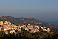 Corsica. France. Cateri, perched Village in Balagne area, Corsica North, France