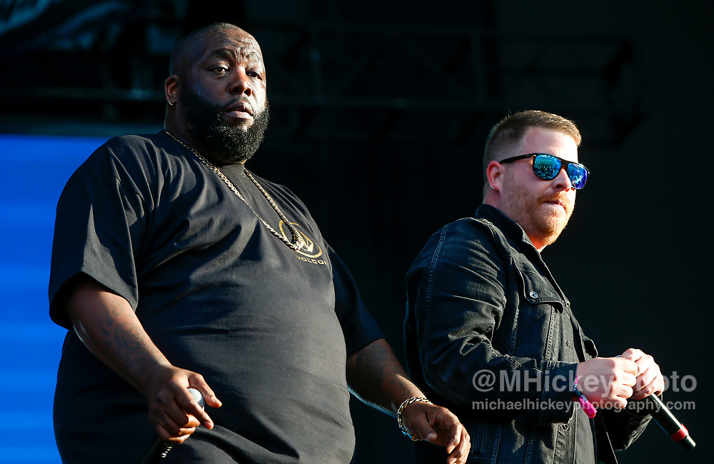 CHICAGO, IL - AUGUST 04: El-P and Killer Mike of Run the Jewels performs at Grant Park on August 4, 2017 in Chicago, Illinois. (Photo by Michael Hickey/Getty Images) *** Local Caption *** El-P; Killer Mike