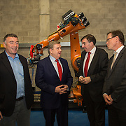03.03.2017        <br /> Minister of State for Employment and Small Business, Pat Breen TD highlighted the growth potential in the aerospace and aviation industries in the Mid West during a recent visit to the University of Limerick. <br /> <br /> Pictured at the event were, Gerry Reynolds, Takumi, Minister of State for Employment and Small Business, Pat Breen TD, Patrick Edmond, Iasc Shannon and Prof. Edmond Magner, Dean Science and Engineering UL. Picture: Alan Place