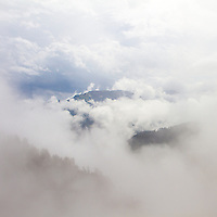 Clouds and mountains in Switzerland
