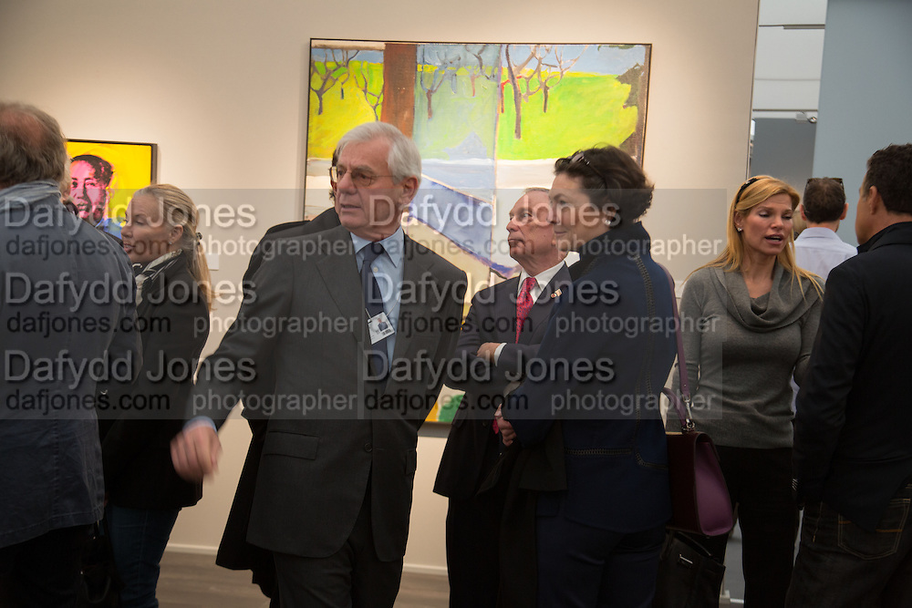 WILLIAM AQUAVELLA; MICHAEL BLOOMBERG MAY OF NEW YORK, , VIP Opening of Frieze Masters. Regents Park, London. 9 October 2012