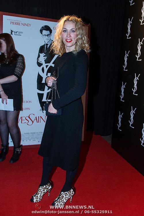 NLD/Amsterdam//20140324 - Filmpremière Yves Saint Laurent, Claudia Straatmans