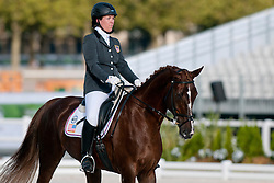 Roxanne Trunnel riding Nice Touch in the Grade 1a Para-Dressage at the 2014 World Equestrian Games, Caen, Normandy, France..