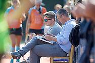 GRONINGEN - Hoofdklasse dames.<br /> Groningen v HDM<br /> Foto: Daan Jan Kuis (l) en Marc Materek Head Coach <br /> WORLDSPORTPICS COPYRIGHT FRANK UIJLENBROEK
