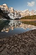 Moraine  Lake at sunrise, Banff National Park, Alberta, Canada