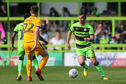 Forest Green Rovers Gavin Gunning(16) on the ball during the EFL Sky Bet League 2 match between Forest Green Rovers and Cambridge United at the New Lawn, Forest Green, United Kingdom on 22 April 2019.