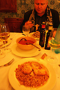 The trattoria Cantina Siciliana can be hard to find, but the resaurant serves very good food.