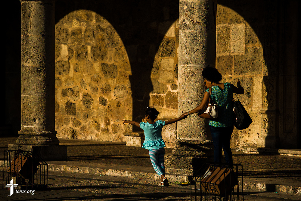 Visitors and tourists in the colonial zone of Santo Domingo, Dominican Republic, on Sunday, March 19, 2017. LCMS Communications/Erik M. Lunsford