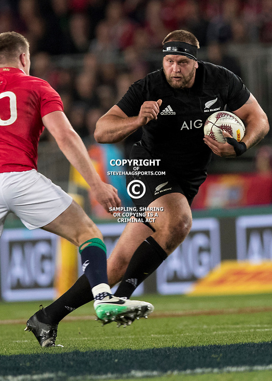 Joe Moody during game 7 of the British and Irish Lions 2017 Tour of New Zealand, the first Test match between  The All Blacks and British and Irish Lions, Eden Park, Auckland, Saturday 24th June 2017<br /> (Photo by Kevin Booth Steve Haag Sports)<br /> <br /> Images for social media must have consent from Steve Haag