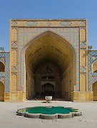 North-side iwan. Jameh Mosque aka The Congregational Mosque of Isfahan built from 771 to the end of the 20th century. Isfahan, Iran