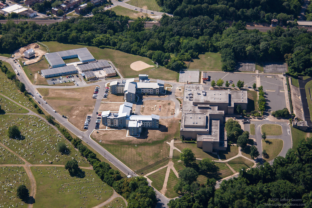 Aerial photo of the Baltimore SEED School in Catonsville MD