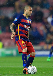 Daniel Alves of Barcelona  - Mandatory byline: Matt McNulty/JMP - 16/03/2016 - FOOTBALL - Nou Camp - Barcelona,  - FC Barcelona v Arsenal - Champions League - Round of 16
