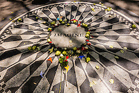 Strawberry Fields (John Lennon Memorial), Central Park, New York, New York USA.