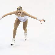 Ashley Cain competes during the championship ladies free skate at the 2014 US Figure Skating Championships at the TD Garden on January 11, 2014 in Boston, Massachusetts.