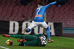 December 19, 2017 - Naples, Italy - JOSE' CALLEJON (SSC Napoli) and SIMONE SCUFFET (SSC Napoli) during the TIM Cup match between SSC Napoli and Udinese Calcio at Stadio San Paolo on December 19, 2017 in Naples, Italy. (Credit Image: © Paolo Manzo/NurPhoto via ZUMA Press)