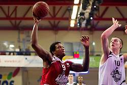 Deon Marshall Thomson vs Alen Omic during Slovenian basketball All Stars Domzale 2012 event, on January 2, 2012 in Hala Komunalnega centra, Domzale, Slovenia.  (Photo By Vid Ponikvar / Sportida.com)