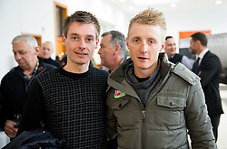 Tomaz Nose and Marko Kump during press conference and presentation of cycling club KK Adria Mobil for season 2016, on March 3, 2016 in Novo mesto, Slovenia. Photo by Vid Ponikvar / Sportida