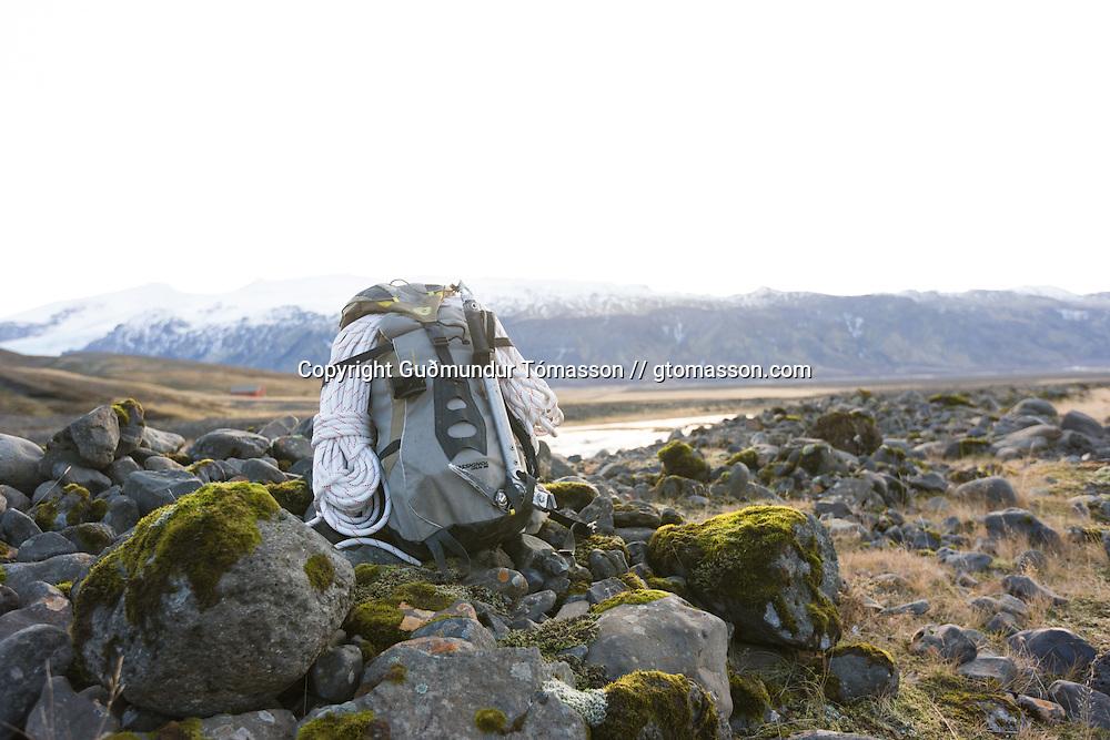 Climbing backpack.