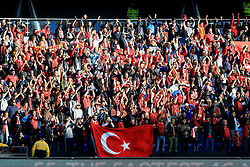 Turkey fans hold up a flag - Mandatory byline: Matt McNulty/JMP - 07966386802 - 22/05/2016 - FOOTBALL - Etihad Stadium -Manchester,England - England v Turkey - International Friendly