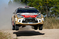 04 Citroen Total Abu Dhabi WRT, Ostberg Mads, Andersson Jonas, DS 3 WRC, Action  during the 2015 WRC World Rally Car Championship, Rally Argentina from April 23th to 26th, at Villa Carlos Paz. Photo Francois Baudin / DPPI.