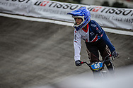 #68 during practice at the 2018 UCI BMX World Championships in Baku, Azerbaijan.