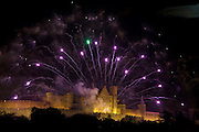14 July fireworks, La Cite, Carcassonne