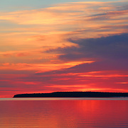 """""""Blazing Dawn""""<br /> <br /> Beautiful hues and shimmering glows in a lovely sunrise image over Lake Huron in Michigan's Upper Peninsula!<br /> <br /> <br /> Sunrise Images by Rachel Cohen"""