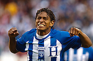 06 June 2009: 13 Carlos Costly of Honduras celebrates his goal during the World Cup Quaifier match between USA and Honduras at Soldier Field Chicago, IL.