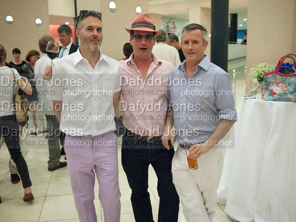 NEAL TAIT; GARY WEBB; JAKE MILLER, Tate Summer Party. Celebrating the opening of the  Fiona Banner. Harrier and Jaguar. Tate Britain. Annual Duveens Commission 29 June 2010. -DO NOT ARCHIVE-© Copyright Photograph by Dafydd Jones. 248 Clapham Rd. London SW9 0PZ. Tel 0207 820 0771. www.dafjones.com.