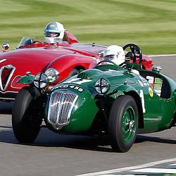 GOODWOOD REVIVAL.....Christopher Mann (1) and Martin Hunt (11) in the official practice for the Freddie March Memorial Trophy ..(c) STEPHEN LAWSON | SportPix.org.uk