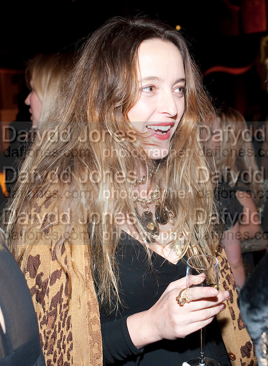 ALICE TEMPERLEY, Harpers Bazaar Women of the Year Awards. North Audley St. London. 1 November 2010. -DO NOT ARCHIVE-© Copyright Photograph by Dafydd Jones. 248 Clapham Rd. London SW9 0PZ. Tel 0207 820 0771. www.dafjones.com.
