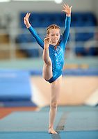 20 Aug 2016:  Maggie Kavanagh, from Laois, performs in the U9 Gymnastics.   2016 Community Games National Festival 2016.  Athlone Institute of Technology, Athlone, Co. Westmeath. Picture: Caroline Quinn