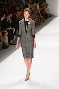 Gray skirt and matching jacket. By Zang Toi, shown at his Spring 20132 Fashion Week show in New York.