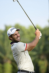 March 22, 2019 - Kuala Lumpur, Malaysia - Edoardo Molinari of Italy hits his tee-shot on the 16th hole on Day Two of the Maybank Championship at at Saujana Golf and Country Club on March 22, 2019 in Kuala Lumpur, Malaysia. (Credit Image: © Chris Jung/NurPhoto via ZUMA Press)
