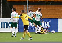Fotball ,Post-nord ligaen ,  <br /> 10.09.17<br /> Nammo Stadion<br /> Raufoss v HamKam 2-0<br /> Foto : Dagfinn Limoseth , Digitalsport<br /> Ryan Doghman , Raufoss leggers i bakken av Ole Erik Midtskogen , HamKam
