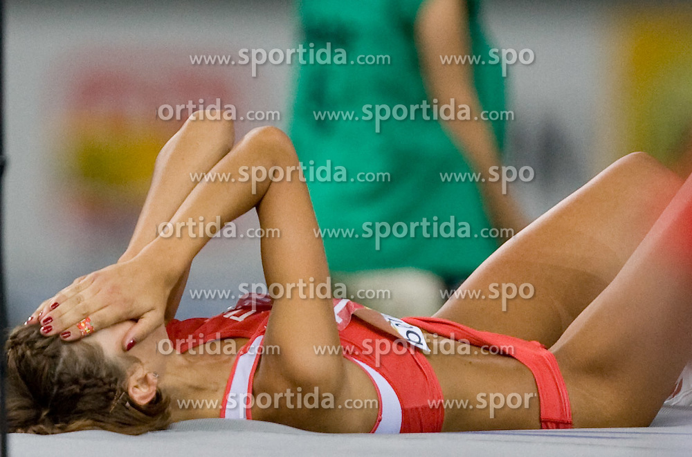 Blanka Vlasic of Croatia reacts after last jump in the women's High Jump Final during day six of the 12th IAAF World Athletics Championships at the Olympic Stadium on August 20, 2009 in Berlin, Germany. (Photo by Vid Ponikvar / Sportida)