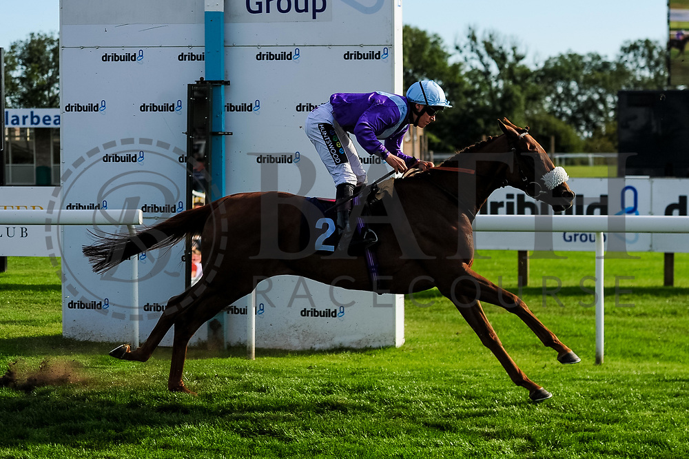 Strict Tempo ridden by William Carver and trained by Andrew Balding in the John Herman Handicap race.  - Ryan Hiscott/JMP - 14/09/2019 - PR - Bath Racecourse - Bath, England - Race Meeting at Bath Racecourse