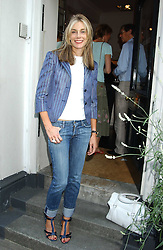 KIM HERSOV at a party to launch the Acqualuna jewellery exhibition at Allegra Hicks, 28 Cadogan Place, London on 22nd June 2005.<br />