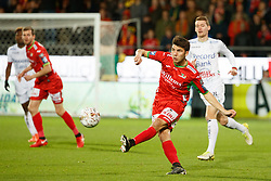 November 5, 2017 - Oostende, BELGIUM - Oostende's Aleksandar Bjelica pictured in action during the Jupiler Pro League match between KV Oostende and Zulte Waregem, in Oostende, Sunday 05 November 2017, on the fourteenth day of the Jupiler Pro League, the Belgian soccer championship season 2017-2018. BELGA PHOTO KURT DESPLENTER (Credit Image: © Kurt Desplenter/Belga via ZUMA Press)