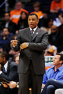 Mar. 14 2010; Phoenix, AZ, USA; Phoenix Suns head coach Alvin Gentry  at the US Airways Center. The Suns defeat the Hornets 120 to 106. Mandatory Credit: Jennifer Stewart-US PRESSWIRE.