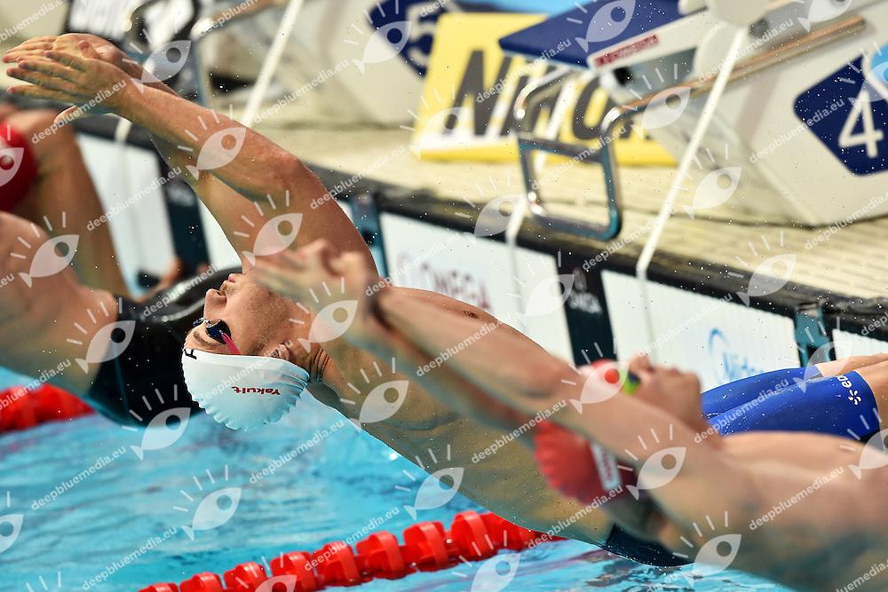 STRAVIUS Jeremy FRA Men's 100 Backstroke <br /> Day11 03/08/2015 Kazan Arena <br /> Swimming Nuoto <br /> XVI FINA World Championships Aquatics  <br /> Kazan Tatarstan RUS <br /> Photo Andrea Staccioli/Deepbluemedia/Insidefoto