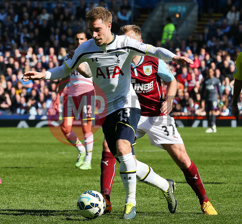 Tottenham Hotspur's Christian Eriksen attacks  - Photo mandatory by-line: Matt McNulty/JMP - Mobile: 07966 386802 - 05/04/2015 - SPORT - Football - Burnley - Turf Moor - Burnley v Tottenham Hotspur - Barclays Premier League