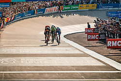 Finish of 1st VAN AVERMAET Greg, 2nd STYBAR Zdenek and 3rd LANGEVELD Sebastian during the 115th Paris-Roubaix (1.UWT) from Compiègne to Roubaix (257 km) at velodrome Roubaix, France, 9 April 2017. Photo by Pim Nijland / PelotonPhotos.com | All photos usage must carry mandatory copyright credit (Peloton Photos | Pim Nijland)