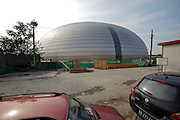 """National Grand Theater, by French architect Paul Andrew, dubbed the """"eggshell""""."""