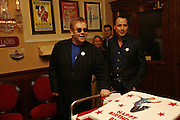 Sir Elton John and David Furnish.  Billy Elliot the Musical celebrates First Birthday. Victoria Palace Theatre. 12 May 2006. ONE TIME USE ONLY - DO NOT ARCHIVE  © Copyright Photograph by Dafydd Jones 66 Stockwell Park Rd. London SW9 0DA Tel 020 7733 0108 www.dafjones.com