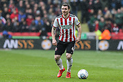 Sheffield United midfielder John Fleck (4) in action during the EFL Sky Bet Championship match between Sheffield United and Rotherham United at Bramall Lane, Sheffield, England on 9 March 2019.