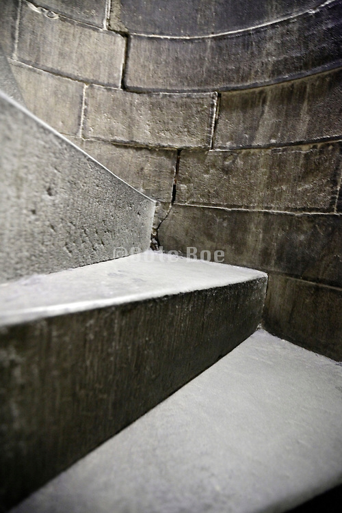 spiraling stair steps in medieval tower