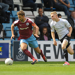 TELFORD COPYRIGHT MIKE SHERIDAN Chris Lait gives chase during the National League North fixture between AFC Telford United and Gateshead FC at the New Bucks Head Stadium on Saturday, August 10, 2019<br /> <br /> Picture credit: Mike Sheridan<br /> <br /> MS201920-005